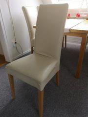 RESERVIERT 6 Stühle - Hochlehner - beige