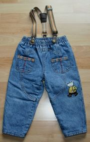 Thermo-Jeans-Hose - Größe 86 - gefüttert - mit