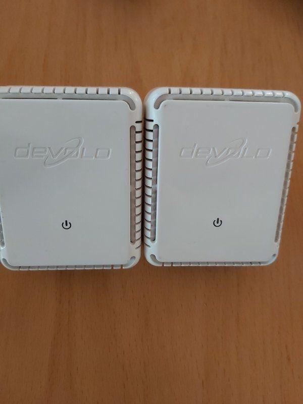 Devolo MicroLink dLAN Highspeed Starter Kit Ethernet 85 MBit bestehend aus Zwei DLAN highspeed Adaptern