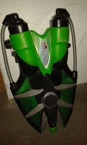 Großer Wasserspritzer, grün.