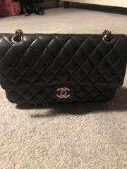 Authentische klassische Chanel-Tasche - mittlere Größe