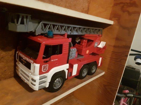 Blechspielzeug Blechspielzeug LKW Feuerwehr aus Blech 1:32 ca.18cm Nostalgie