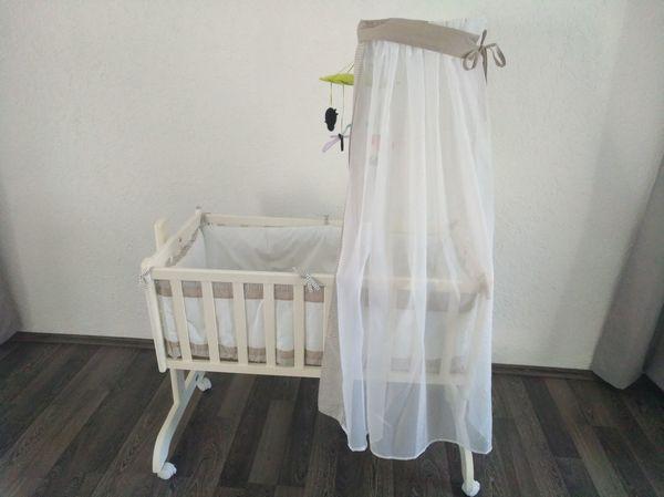 Nestchen babybett alvi schutz babybay baumwolle kalaydo