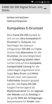 Schlagzeug Fame DD