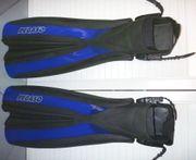 Tauchflossen mit Fußtasche Gr L-XL