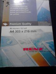 Renz Folientaschen Laminat A4 80