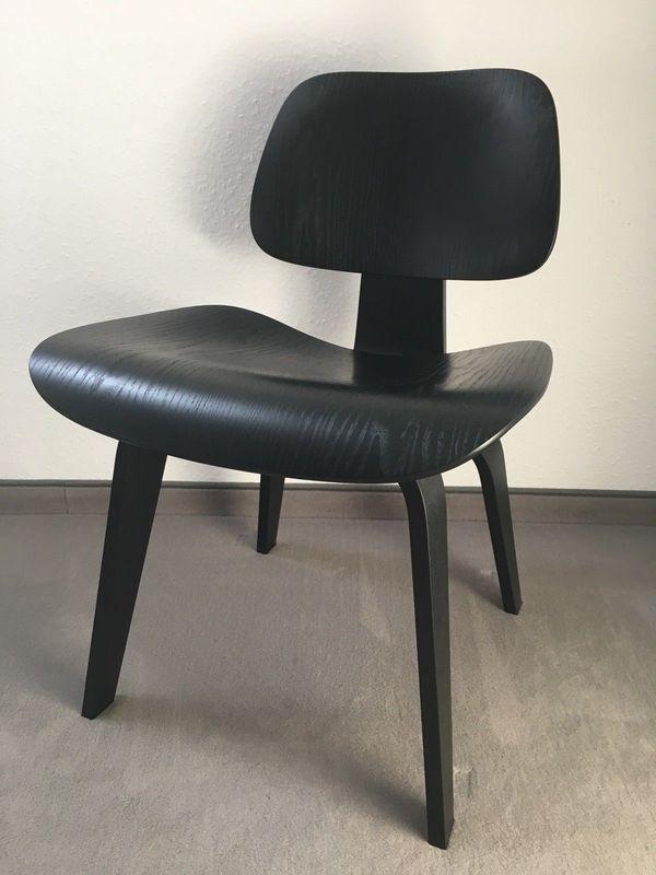 VITRA Plywood DCW Stuhl schwarz