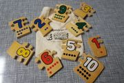 Holzzahlen - Puzzle