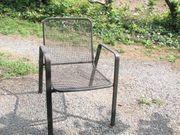 Gartenstühle Terassenstühle Stahlrohr Stahlgitter 6