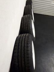 Alufelgen mit neuen Reifen für