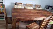Stühle + Esstisch Massivholz