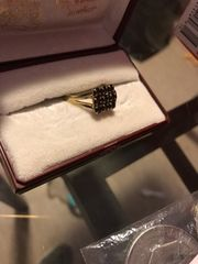 Granat Ring Gold 333