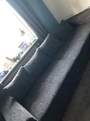 Sofa inklusive Hocker