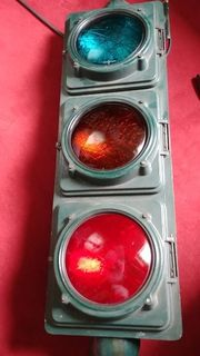 Verkehrsampel mit Lichtorgel