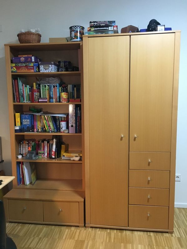 Paidi Kinderzimmer komplett: Hochbett mit Rutsche, Schrank und Regal ...
