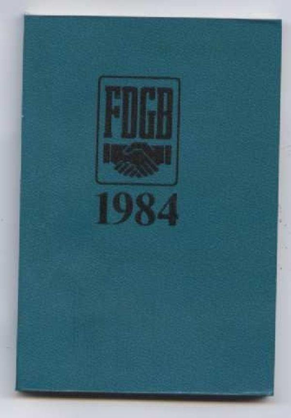 FDGB 1984 Kalender - Taschenkalender - Taschenkalenderbuch