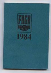 FDGB 1984 Kalender -