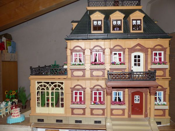 traumhaftes playmobil haus nostalgie villa mit tollem. Black Bedroom Furniture Sets. Home Design Ideas