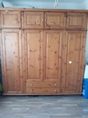 Holz Möbel Bett Nachtschrank Kleiderschrank
