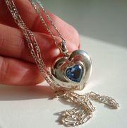 Damenkette 42 cm mit Herzanhänger