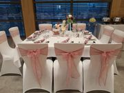 Stuhlhussen Verleih Hochzeitsdeko Kerzenleuchter Service