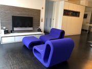 Designer Hingucker Sessel Lowboard Kamin