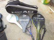 Schläger Tennis Squash und Schlägertasche