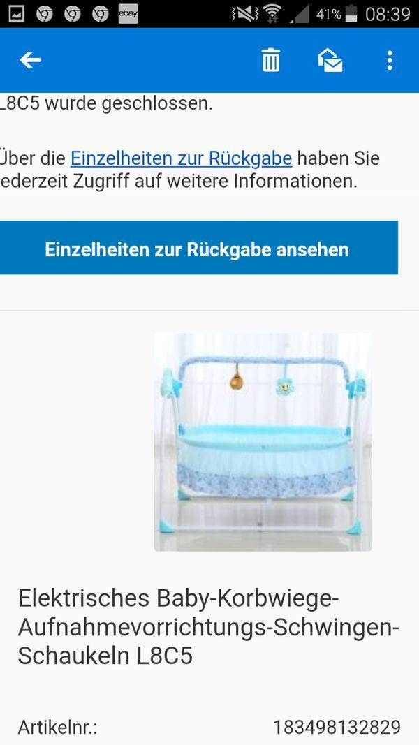 Elektronisches Schaukel Bettchen für babys