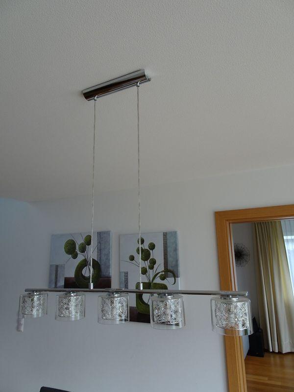 LED Esstischlampe Esszimmerleuchte modern Glas