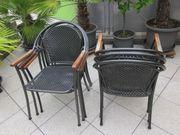 Garten Stühle Stuhl Terrasse Metall