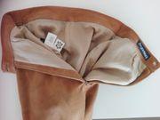 Lederrock aus Ziegenvelours- wie neu-