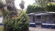 Verkaufe Wohnwagen auf Dauerstellplatz in