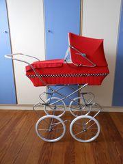 Puppenwagen 70er Jahre Rot Puppen -