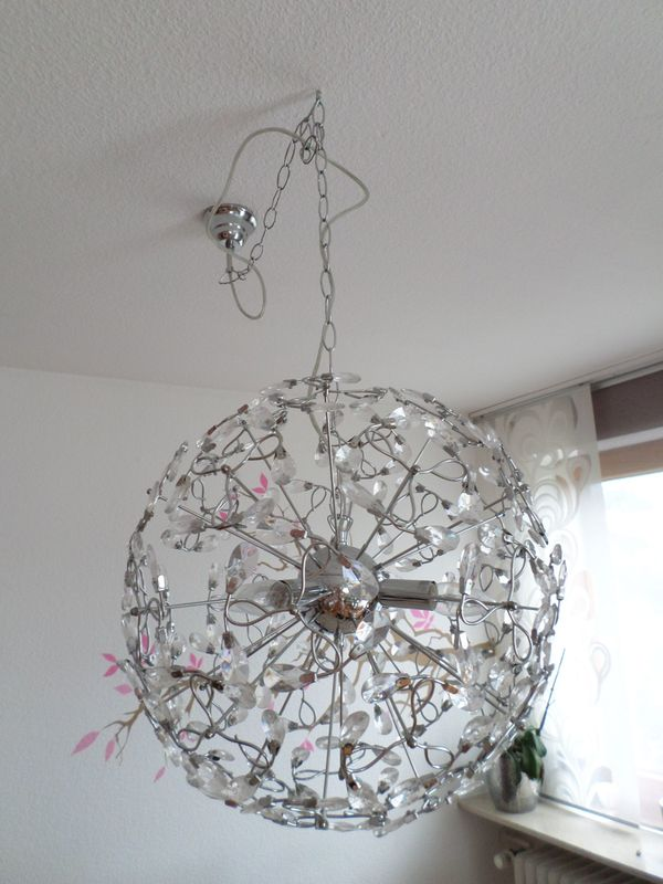 Designer-Lampe hängend - Grafenberg - Designer-Lampe:Verkauft werden soll eine Designer Hängelampe Kristalloptik, was wunderschöne Reflexe wirft. Die Lampe hat keinerlei Mängel. Der Neupreis lag bei ca. 200 Euro. - Grafenberg