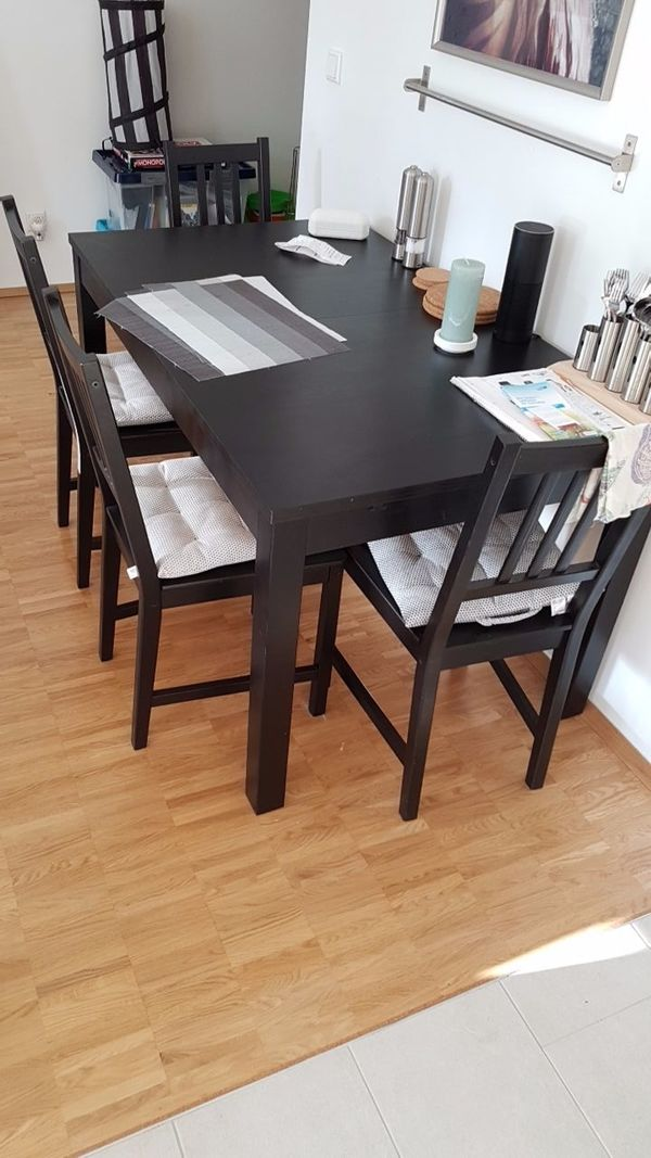 ikea esstisch inkl 4 st hle in mainz ikea m bel. Black Bedroom Furniture Sets. Home Design Ideas