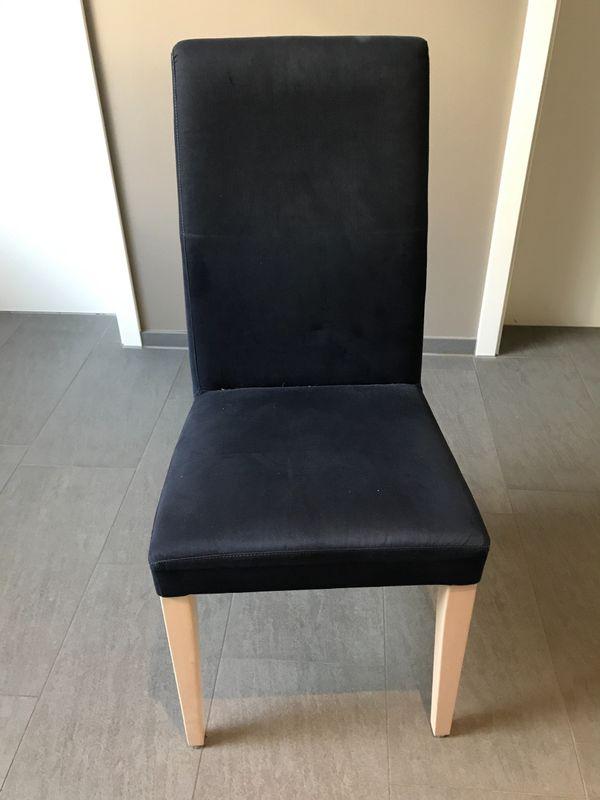Schön 6 Esszimmerstühle (helles Holz, Blauer Stoffbezug) Gebraucht Kaufen 71384  Weinstadt