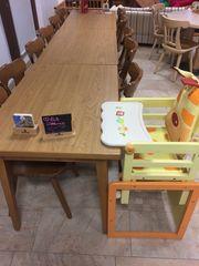8 Gastrotisch Stühle stabile Tische