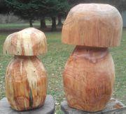 Holzpilz Dekopilz Fliegenpilz Pilz aus