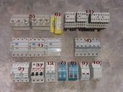 Umfangreiches Elektroinstallationsmaterial FI-Schalter LS-Schalter Sicherungssockel