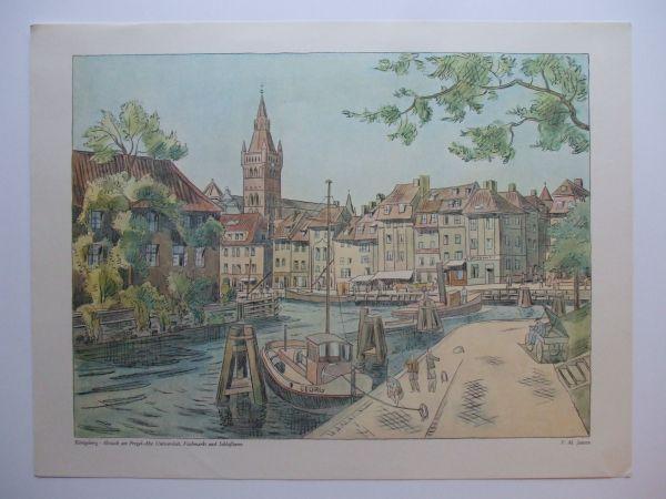 Gemälde Kunst gemälde aquarell bild ostpreußen moderne kunst expressionismus