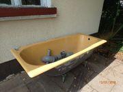Emaille Badewanne und Waschbecken