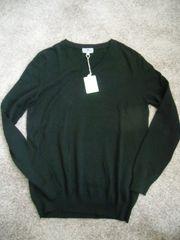 Pullover mit V-Ausschnitt langarm Gr