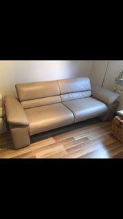 Koinor 2-Sitzer Echtleder Couch Sofa