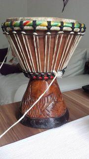 Original Djembe Buschtrommel Handarbeit Holz
