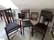 3 wunderschöne alte Stühle - teilresauriert