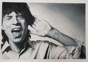 Mick Jagger Ölgemälde