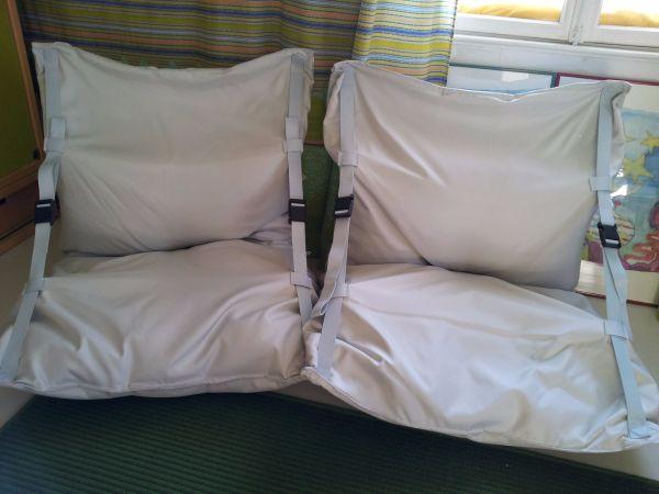 Gemütliche sessel design  Airbag Sitzsäcke - Sessel - Design - gemütliche Sitzsäcke mit Gurten ...