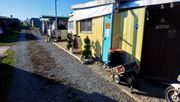 Dauercampingplatz Wohnwagen mit festem Vorbau