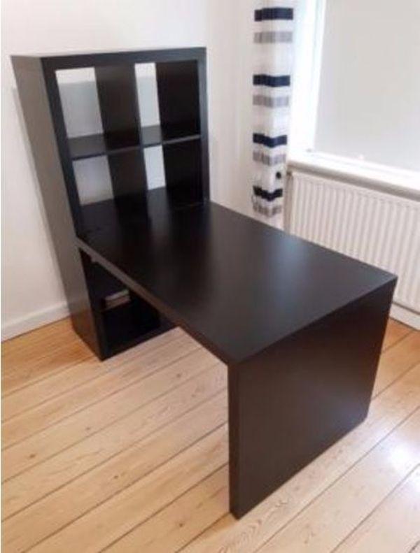 Ikea Kallax Schreibtisch ikea expedit kallax schreibtischkombination in schwarzbraun in