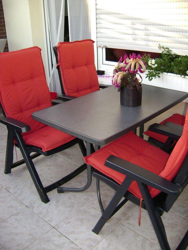 Terrasse Balkonmobel Bequeme Sitzgruppe Tisch Mit Auflagen